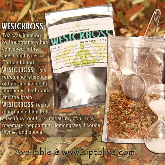 WESICKBOSS TEA Available at www.siptolive.com